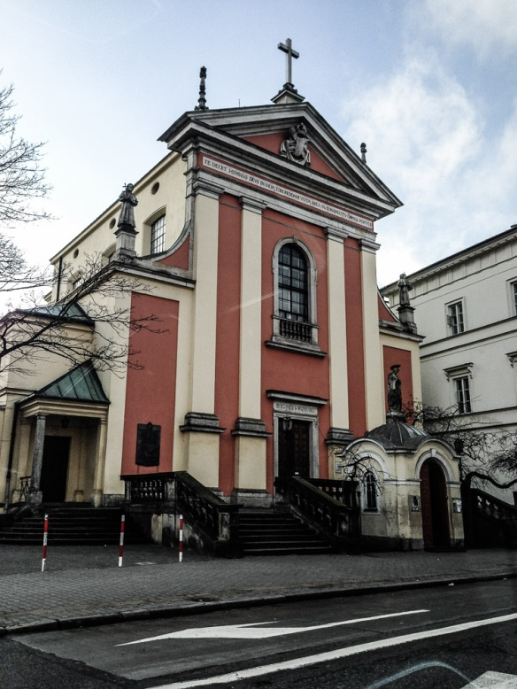 Kościół Kapucynów Przemienienia Pańskiego on Miodowa, where they feed the homeless