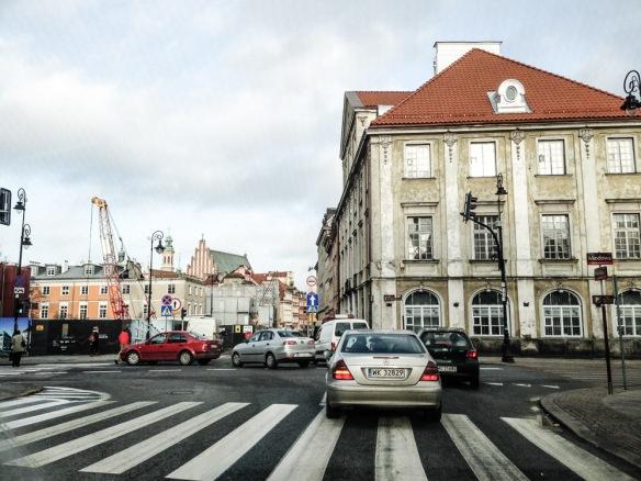 Senatorska looking across Miodowa towards old town