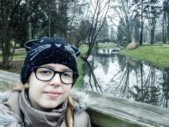 Zosia on a bridge