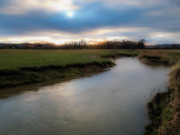 Swollen stream (looking towards Devil's Hole)